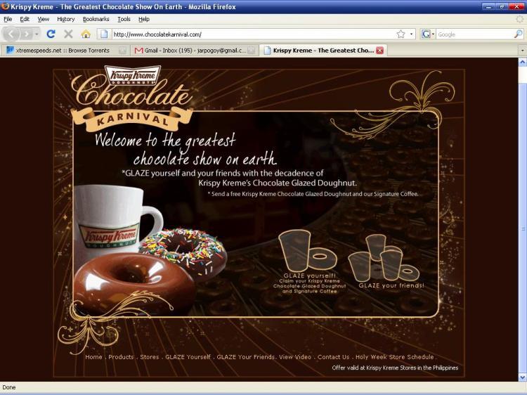 Glaze Yourself and Get a Free Chocolate Glazed Doughnut and Signature Coffee From Krispy Kreme