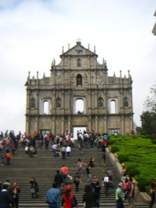 Part of the Portugese Trail is the famous St. Paul Ruins of Macau