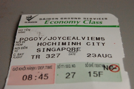 Joyceee is Singapore-bound! :)