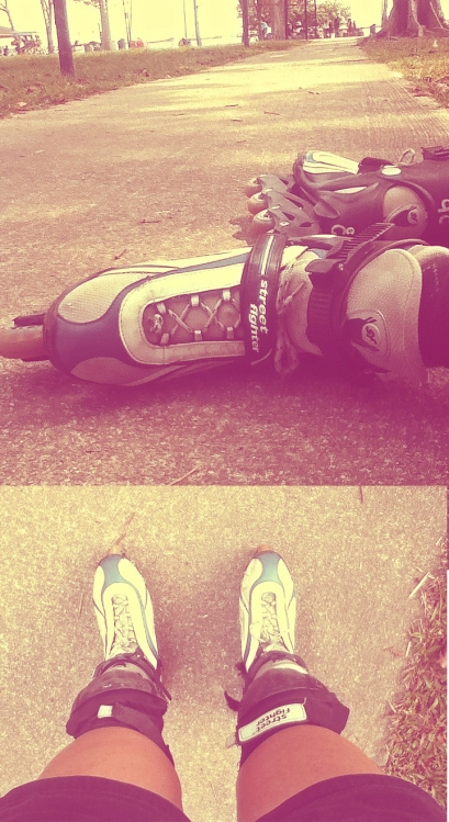 Rollerblading at East Coast Park