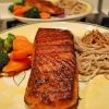 Easy Salmon Steak & Soba – HappyCall Recipe