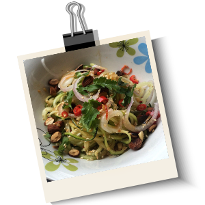 Easy Zucchini Noodle Salad